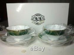 Tokyo Disneyland Club 33 Limited Tea Cup & Saucer 2 pairs set NORITAKE