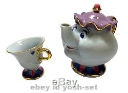 Tokyo Disneyland Limited Beauty and the Beast Teapot Tea cup set From Japan