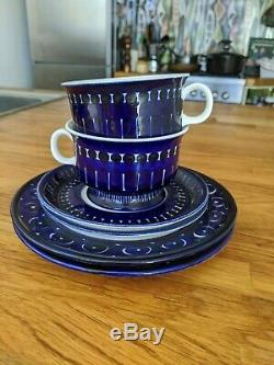 VALENCIA Arabia Tea Set 6 pcs 2 Tea Cups, 2 Saucers, 2 Plates Ulla Procope