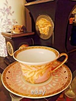 VERSACE BYZANTINE CUP SAUCER GOLD TEA COFFEE SET NEW BOX Retail $300 sale