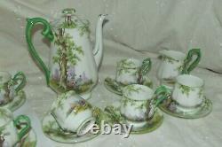 VINTAGE ROYAL ALBERT GREENWOOD TREE tea coffee POT MILK SUGAR 6 CUP & SAUCER SET