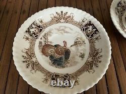 VTG JOHNSON Brothers Barnyard King Turkey Coffee/Tea Cup and Saucer 8 Sets Mint