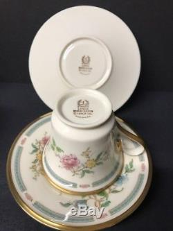VTG Lenox Morning Blossom Gold Trim 12 Saucer N Footed Cup Tea & Coffee Set