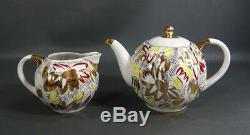 VTG Lomonosov Soviet Russian Gild Porcelain Teapot Tea Cup Saucer Creamer Set