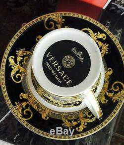 Versace Prestige Gala Cup Saucer Set Tea Coffee Rosenthal New Retail $330