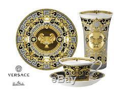 Versace Rosenthal Prestige Gala Set Plate 30 cm+Vase 34 cm+Tea Cup with Saucer