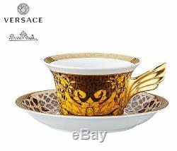 Versace Rosenthal Wild Floralia Set Decorative Plate 22 cm+Tea Cup 25 YEARS