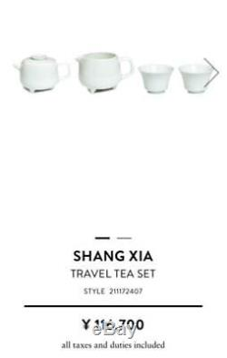 Very RARE HERMES SHANG XIA Portable Travel TEA SET 2 Cup and Pot UNUSED withBox