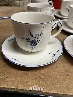 Villeroy & Boch Vieux Luxembourg Large Breakfast Teacup, Plate & Teapot Set
