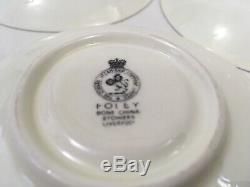 Vintage Cunard Steamship Line 3pc Teacup Set Foley Bone China Liverpool