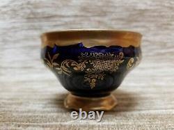 Vintage Echt Weimar Kobalt Katharina 20003 Demitasse Cups And Saucers Set of 8