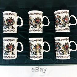 Vintage Gucci Floral Flora 24K Gold Accent Mug Tea Cup Set Fine Bone China