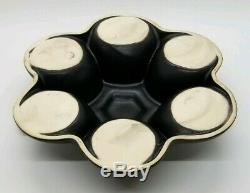 Vintage Modernist Saenger Pottery Black 9 Piece Coffee/Tea Pot & Cup Set