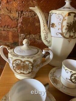 Vintage Noritake Nippon Coffee Tea Pot Cup Saucer Sugar Creamer Hinode 13pc Set