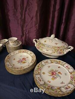 Vintage OSCAR de la RENTA ROYALE Set 64 Fine China UH004 Bowls/Plates/Tea Cups