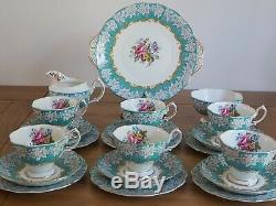 Vintage Royal Albert Enchantment Tea Set 6 Tea Cup Trip & More 21pcs 1st Q