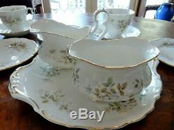 Vintage Royal Albert Haworth 21pc Tea Set Cup Saucer Plate Milk Jug Sugar Bowl