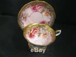 Vintage Royal Albert Tea Cup & Saucer Set Portrait Series, Roses Gold Mint Cond