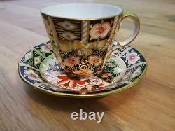 Vintage Royal Crown Derby Tea Cups & Saucers Set of 6 Imari 2451 Pattern