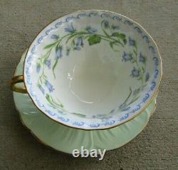 Vintage Shelley Harebell Oleander Teacup And Saucer Set England Excellent