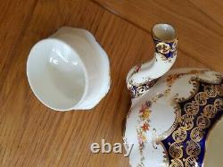 Vintage Staffordshire Tea Set with Teapot 6 Tea Cup and Saucers & More