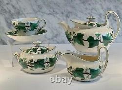 Vintage Wedgwood Napoleon Ivy Tea Set Service Pot Sugar Cream Cup Saucer 1939