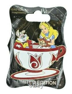 WDI Disney Pin Mad Tea Party Alice in Wonderland Tea Cups Set LE 250