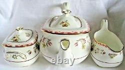 WEDGWOOD Tea Set for Two Bianca Teapot Jug Sugar Bowl Teacup trios Cake Stand