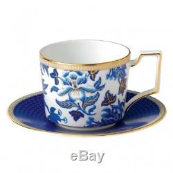 Wedgwood Hibiscus Iconic Teacup & Saucer Set of 4