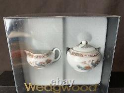 Wedgwood Kutani Crane Mini Tea Set Teapot Sugar Bowl Creamer Bread Plate Cup