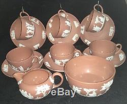 Wedgwood jasperware vintage terracotta Tea cup and saucer Set C1950s
