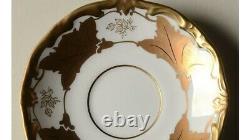 Weimar Jutta White/Gold (6) Demitasse Tea Cups/ Saucers Set