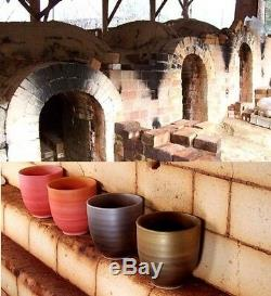 YUNOMI set of 2 pair japanese tea cup ARITA yaki ware FUJII KINSAI kiln