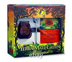 Yerba Mate Starter Set in a Gift Box Cup + Mate Tea + Bombilla