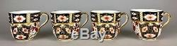 -royal Crown Derby- Old Imari 2451 Coffee Tea Service Set Bowl Plate Cup Saucers